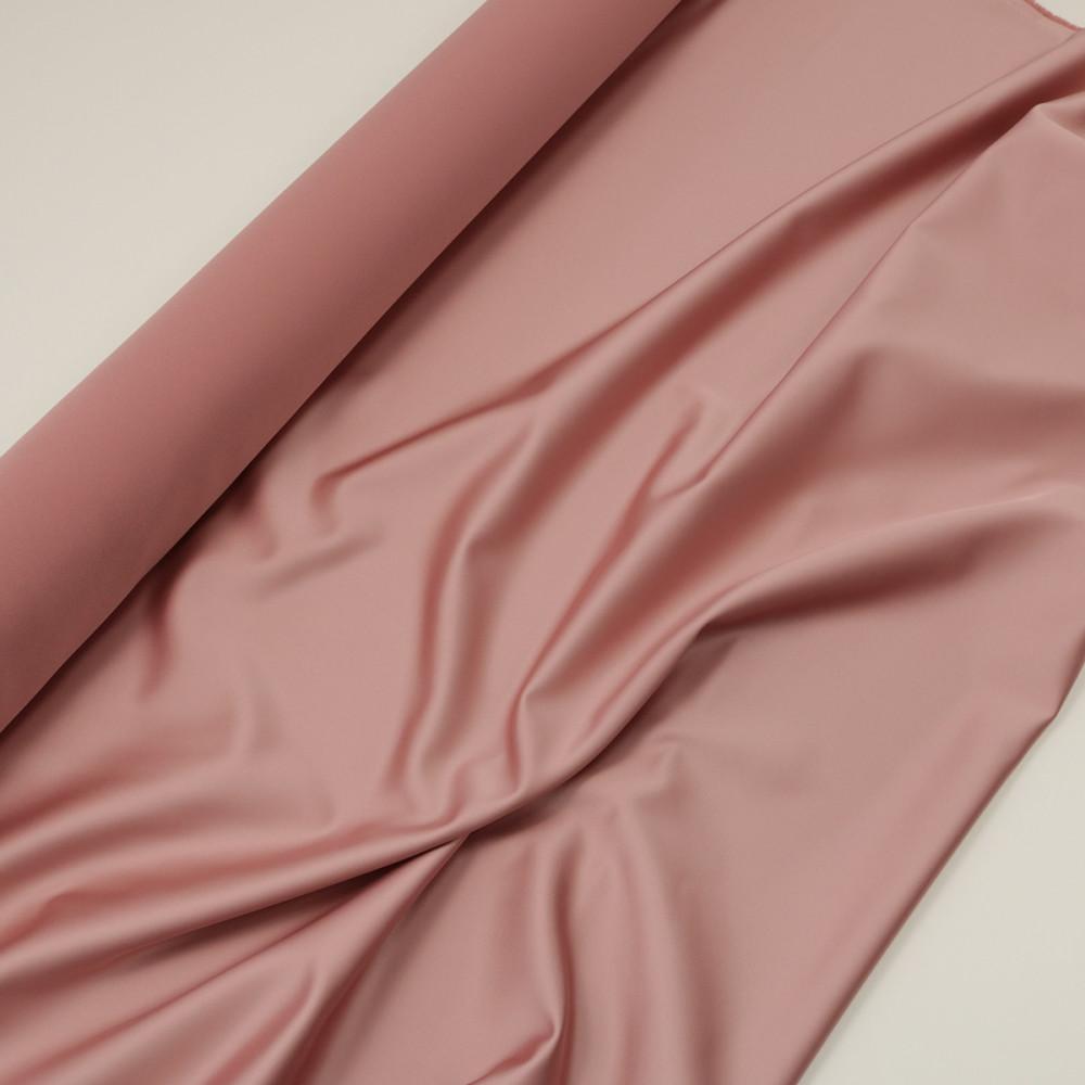 Cupon 1.85 m tafta elastica SCARLET Roz vintage