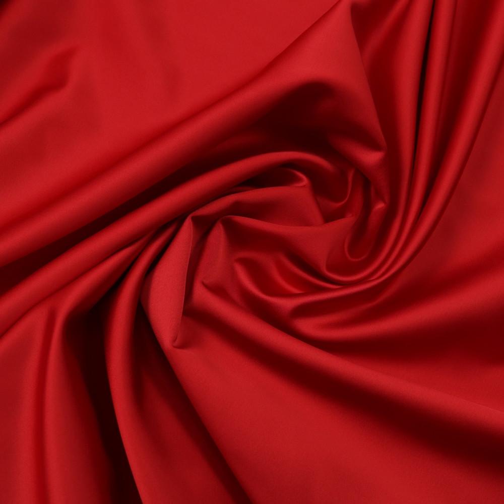 Cupon 1.4 m tafta elastica SCARLET Rosu