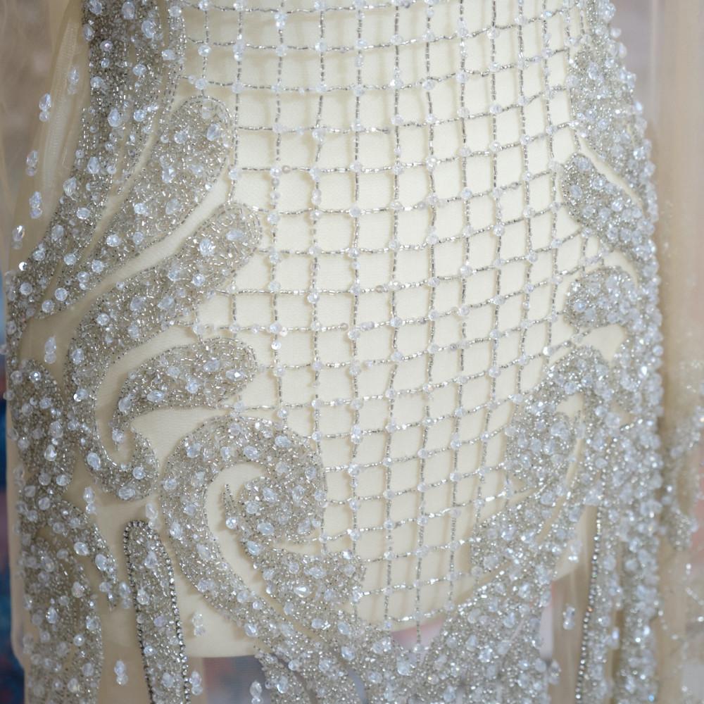 Aplicatie rochie lunga Argintiu Ivoire