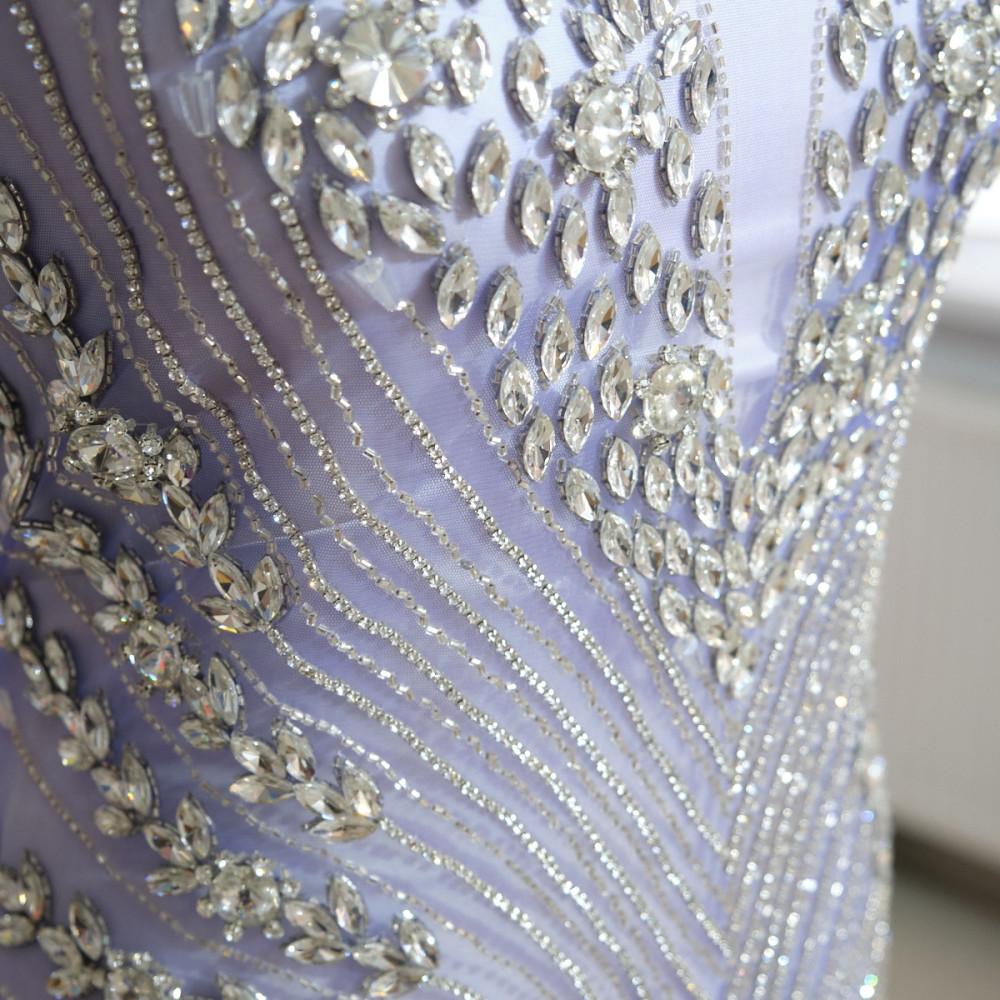 Aplicatie rochie lunga Albastru - Argintiu