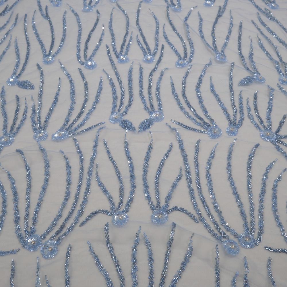 Dantela accesorizata Bleu