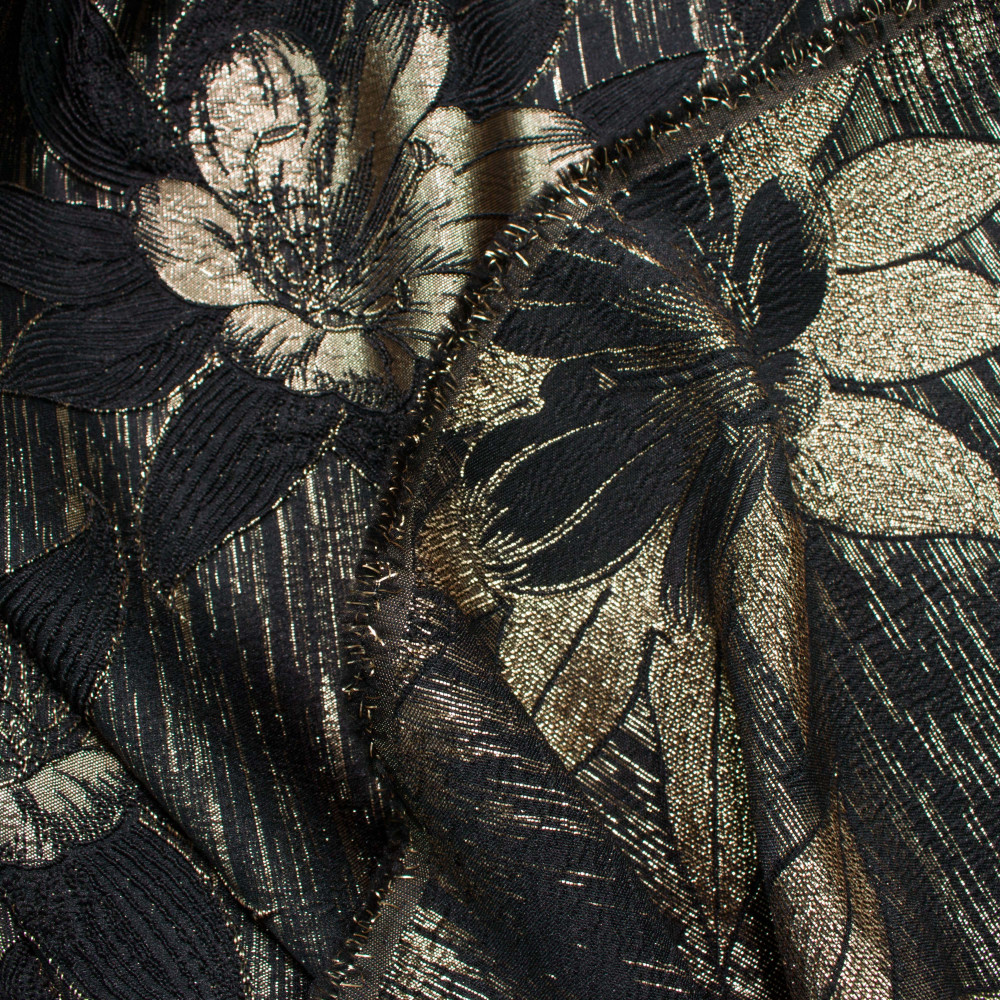 Jacquard Negru Auriu