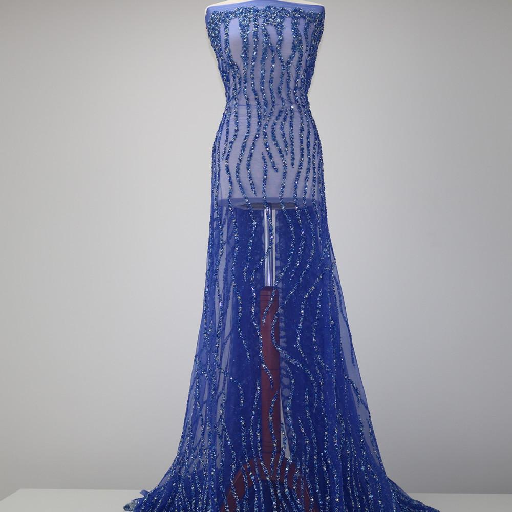 Dantela Bertha Albastru CUPON 65 CM