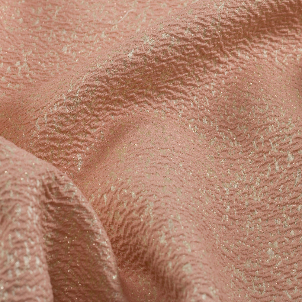 Jacquard metalic Rose Gold