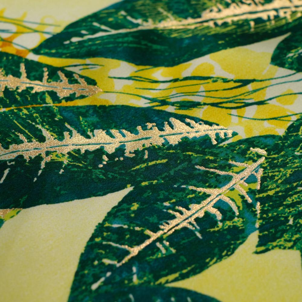 Matase naturala imprimata digital