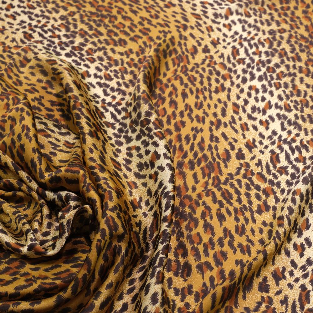 Matase sintetica imprimata digital cu animal print