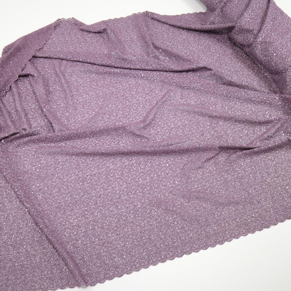 Dantela simpla elastica cu fir metalic, Lavanda