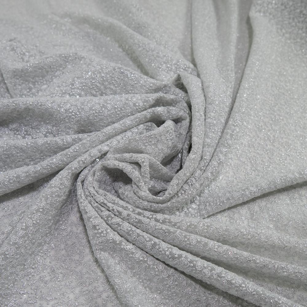 Dantela simpla elastica cu fir metalic, Argintiu