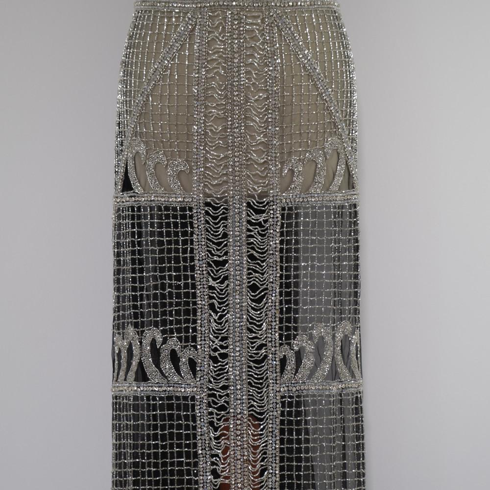 Aplicatie rochie lunga Argintiu
