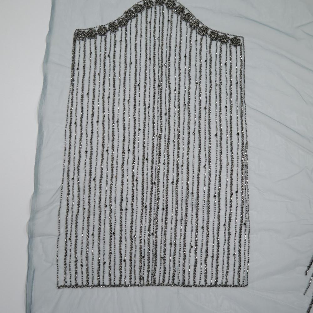 Aplicatie rochie lunga Gri Antracit
