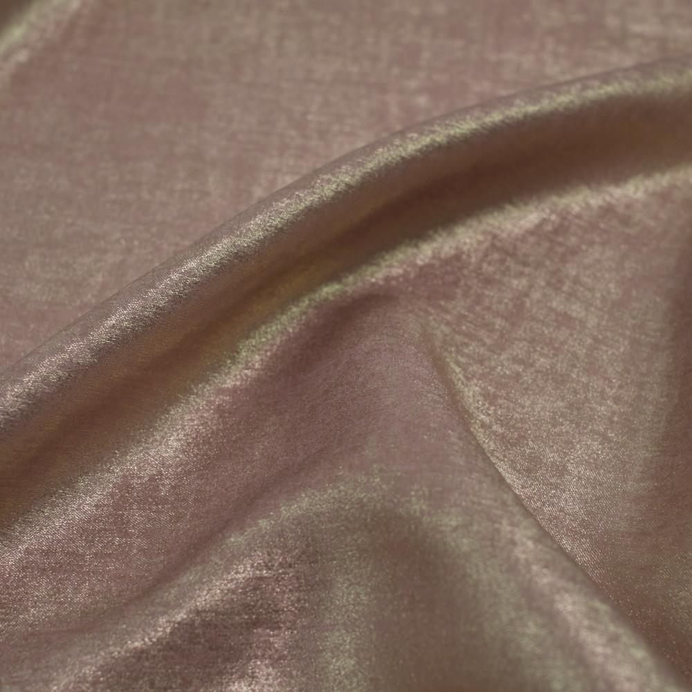 Matase sintetica cu pelicula metalica Gold Rose