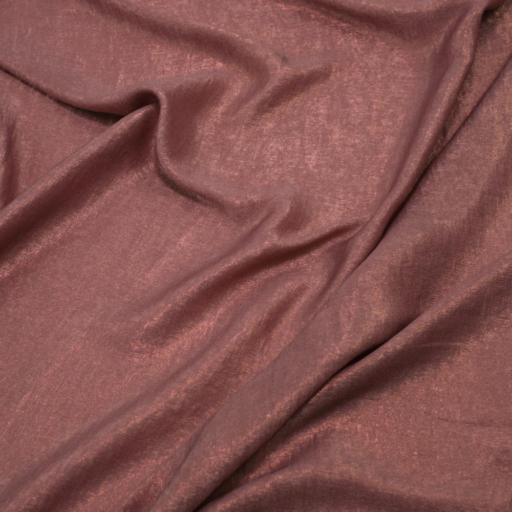 Matase sintetica cu pelicula metalica Roz Vintage