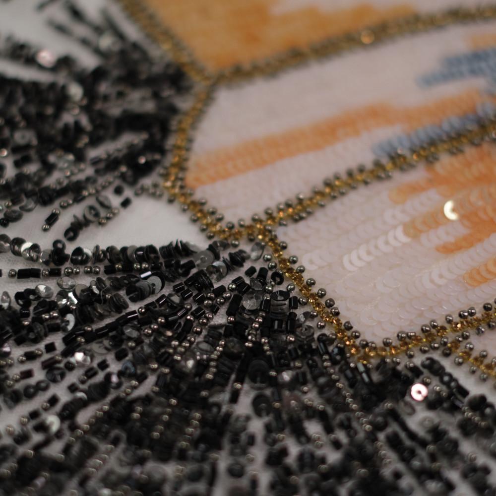 Dantela accesorizata cu paiete si margele