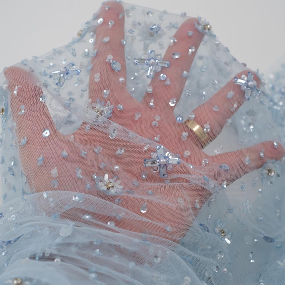 Dantela Bertha Bleu