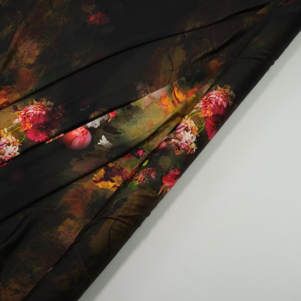 Matase sintetica elastica imprimata digital