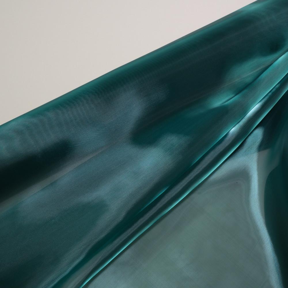Organza tare cu aspect sidefat Turcoaz din Verde