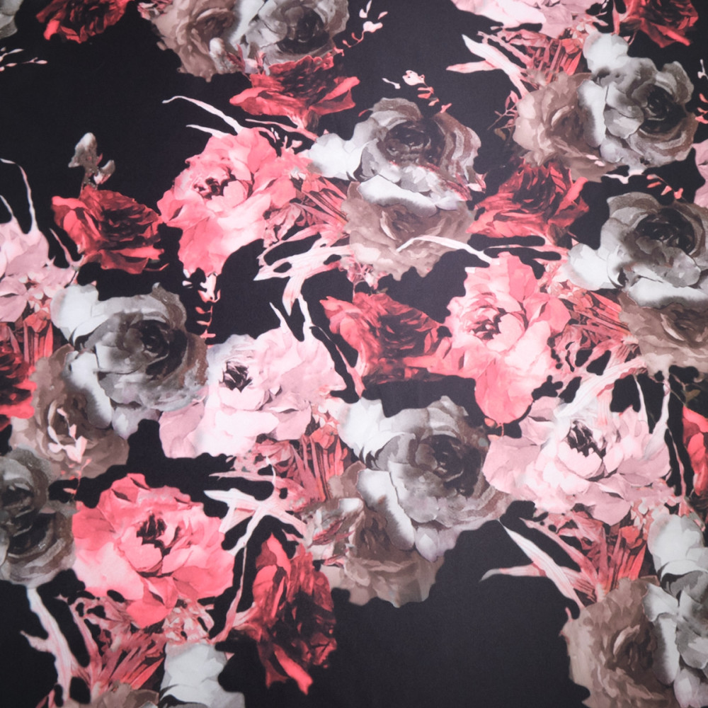 Tafta imprimata cu motive florale