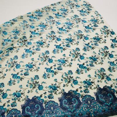 Catifea devore in nuante de Albastru si Turcoaz