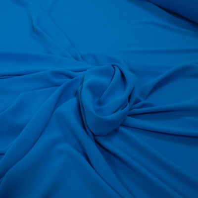 Crep elastic subtire Alexandra Turcoaz din albastru