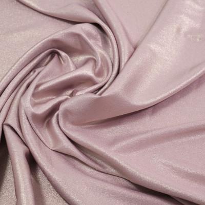 Jacquard elastic uni cu fir metalic Lily Pink