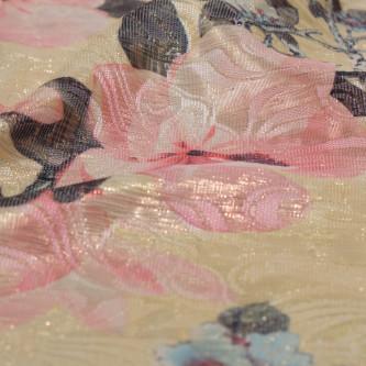 Brocart cu design floral multicolor