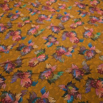 Crep subtire de vara imprimat cu motive florale
