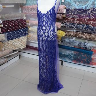 Aplicatie rochie lunga Albastru