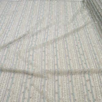 Dantela accesorizata in dungi Bleu Argintiu