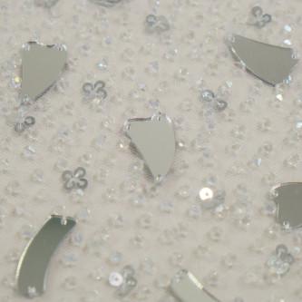 Dantela accesorizata cu oglinzi Arctic Silver