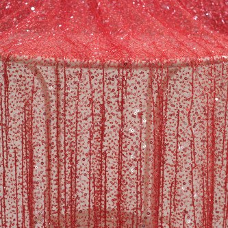 Dantela Haute Couture accesorizata manual Rosu carmin