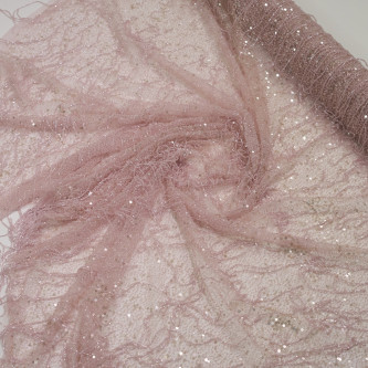 Dantela Haute Couture accesorizata manual Light rose