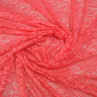 Imitatie dantela chantilly elastica Coral