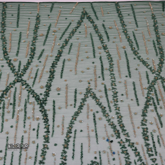 Dantela accesorizata Verde