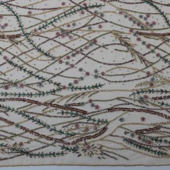 Dantela accesorizata Auriu