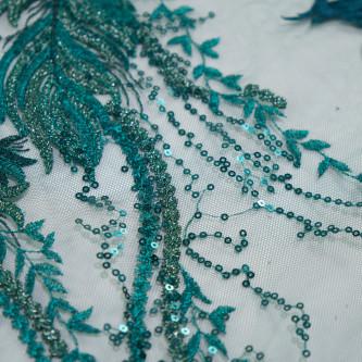 Dantela simpla Verde smarald