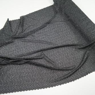 Dantela simpla elastica cu fir metalic, Negru