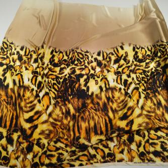 Matase naturala imprimata digital animal print