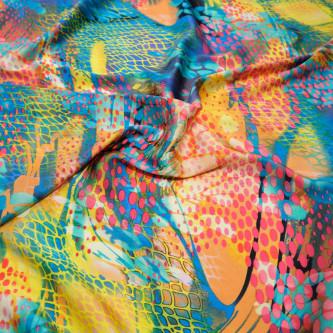 Matase naturala elastica imprimata digital