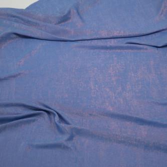 Matase sintetica cu pelicula metalica Albastru