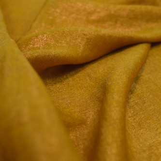 Matase sintetica cu pelicula metalica Olive Gold