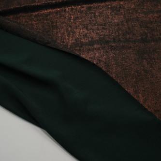 Matase sintetica cu pelicula metalica Forest Green