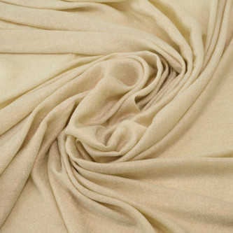Matase sintetica cu pelicula metalica Creamy Ivory