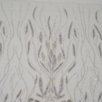 Dantela accesorizata Argintiu