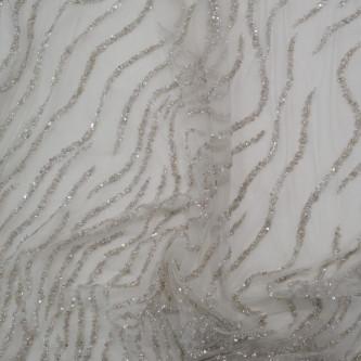 Dantela Bertha Argintiu