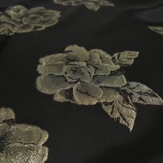 Tafta cu flori metalice aurii