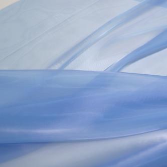 Organza tare cu aspect sidefat Bleu