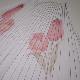Material plisat pentru fuste mini din tul imprimat
