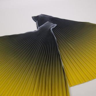 Material plisat in degrade pentru fuste lungi Negru Olive