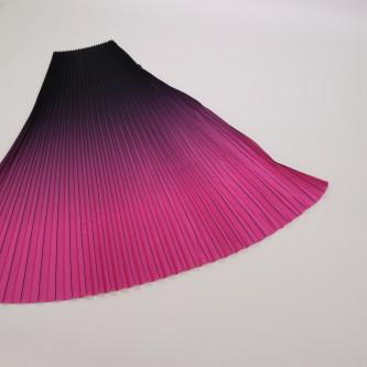 Material plisat in degrade pentru fuste lungi Negru Ciclamen