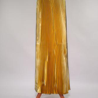 Material plisat pentru fuste lungi Auriu
